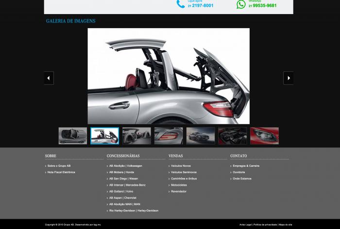 Galeria do veículo do site AB Intercar Mercedes-Benz