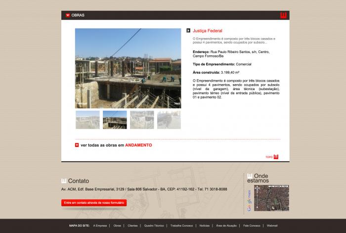 Página principal do site da Technologias